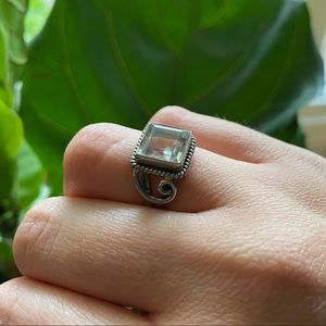Vintage Style Sterling Silver Ring Size 7
